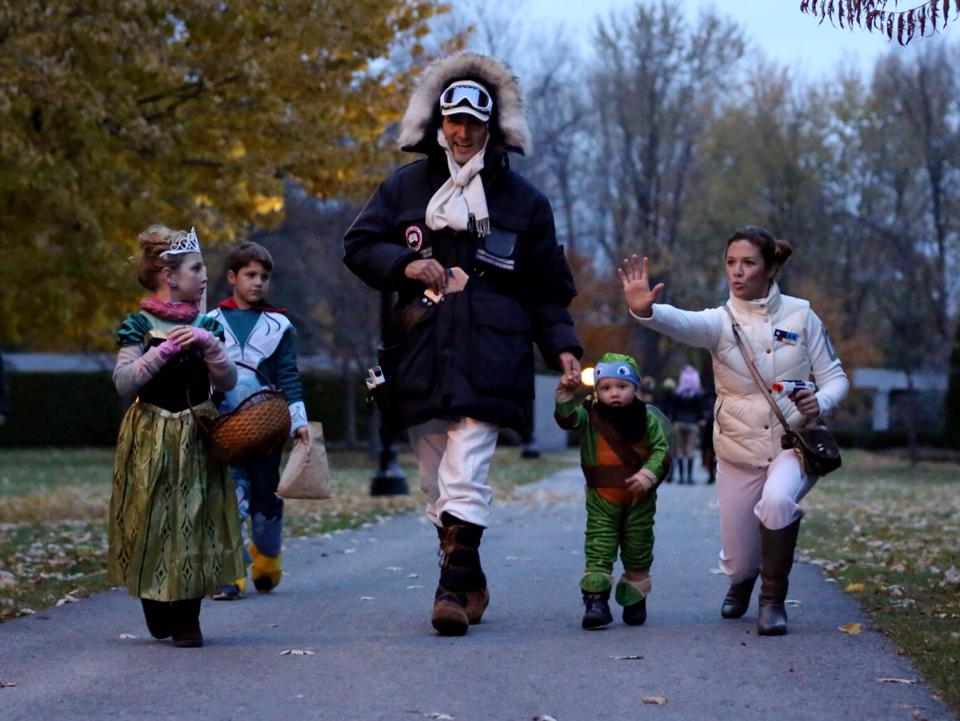 Justin Trudeau and family on Halloween/Facebook