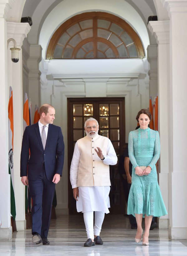 """Had a very good interaction with the Duke & Duchess of Cambridge,"" Prime Minister Narendra Modi said of the Royal Visit to India/Twitter"